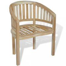 VID banán alakú tömör tíkfa szék