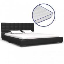 VID fekete műbőr ágy memóriahabos matraccal 140 x 200 cm