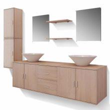 9 részes variálható fürdőszoba bútor szett