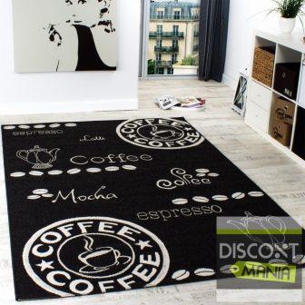 Mintás konyhai szőnyeg - coffee, antracit - több választható méret