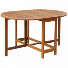 Kültéri ovális akácfa kerti asztal [130 x 90 x 72 cm]