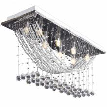 VID-Csillogó mennyezeti lámpa Kristály gyöngyökkel