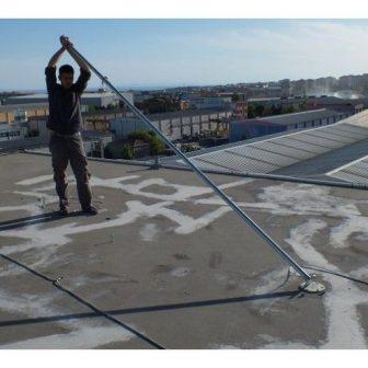 500W szélgenerátorhoz stabil cinkelt acél tartóoszlop