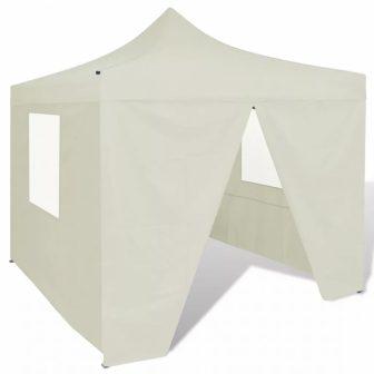 VID Összecsukható sátor oldalfalakkal 3X3M krém színben