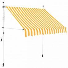 VID Manuálisan feltekerhető napellenző - 200 cm - sárga fehér csíkokkal