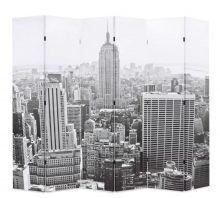 VID paraván 228 x 180 cm New York, fekete-fehér