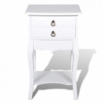 VID Telefon szekrény/ éjjeli szekrény fehér színben