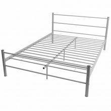 """Fém ágy 160x200 cm """"V30"""", ágyráccsal szürke színben"""
