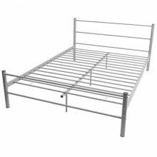 """VID Fém ágy 160x200 cm """"V30"""", ágyráccsal szürke színben"""
