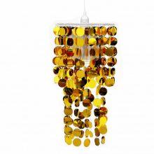 Mennyezeti lámpa Aranyozott lapokkal