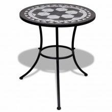 Mozaik kerti asztal 60 cm több fekete színben