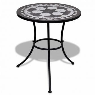 VID Mozaik kerti asztal 60 cm több fekete színben