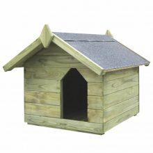 VID impregnált fenyő kerti kutyaház felnyitható tetővel 336424