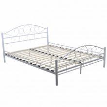 """Fém ágy 140x200 cm """"V2"""" ágyráccsal, fehér színben"""