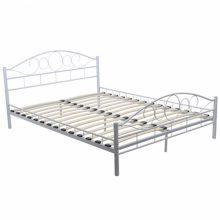 """VID Fém ágy 140x200 cm """"V2"""" ágyráccsal, fehér színben"""