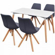 VID 5 darabos retro étkező szett - sötétszürke székekkel
