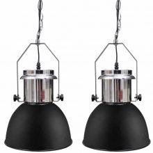 Modern mennyezeti lámpa fekete színben