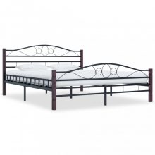 VID fekete acél ágykeret 200x200 cm