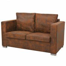 VID 2 személyes antik bőrhatású kanapé