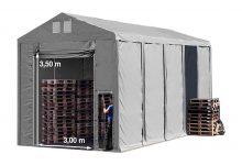 Vario raktársátor 5x10m - 3,6m oldalmagassággal-bejárat típusa: felhúzható
