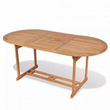 Összecsukható tíkfa kültéri asztal [180 x 90 x 75 cm]