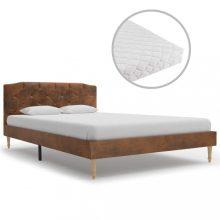 VID művelúr ágy matraccal 120x200 cm barna