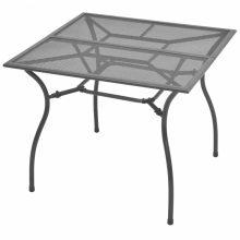 VID Kültéri acélhálós bisztróasztal [90 x 90 x 72 cm]