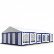 TP Professional deluxe 6x12m nehéz acélkonstrukciós rendezvénysátor erősített tetőszerkezettel kék-fehér