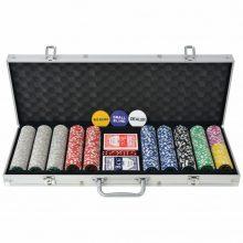 VID pókerkészlet 500 lézeres alumíniumzsetonnal