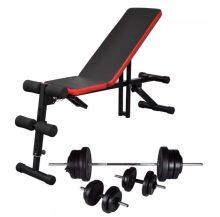 VID állítható haspad egykezes és kétkezes súlyzókészlettel 60,5 kg