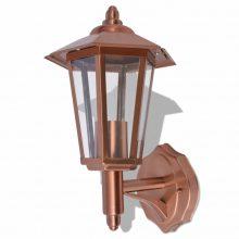 Kültéri rozsdamentes acél fali lámpa, réz színű