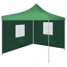 VID zöld színű összecsukható sátor 2 fallal 3x3 méter