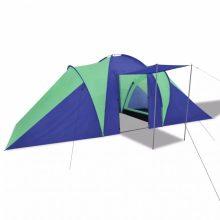 6 személyes kemping sátor Sötétkék/ zöld színben