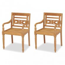 VID 2 db tömör tíkfa Batavia szék