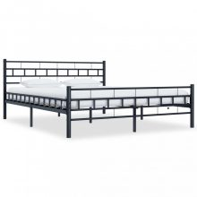 VID fekete acél ágykeret 140x200 cm