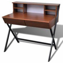 Barna 2 fiókos íróasztal