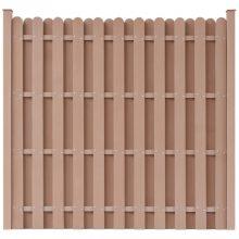 VID barna WPC kerítéspanel 2 db oszloppal 180 x 180 cm azonnal raktárról