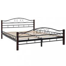 VID fém ágykeret ágyráccsal 140 x 200 cm