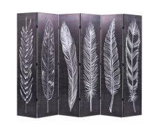 VID fekete/fehér paraván 228 x 180 cm tollak
