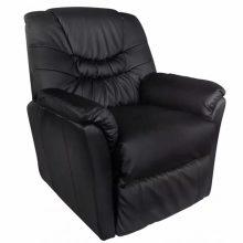 Crna masažna fotelja - 10 programa masaže