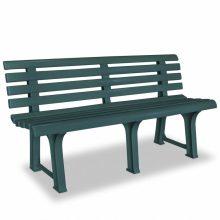 VID zöld, műanyag kerti pad 145,5 x 49 x 74 cm
