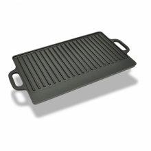 VID XL Öntöttvas grill tál reverzibilis