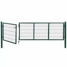 VID zöld acél kerti kerítéskapu póznákkal 350 x 100cm