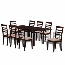 Meghosszabbítható tömör fa étkező garnitúra 8 db székkel két színben