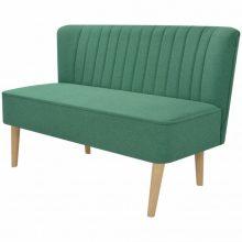 Zöld szövet retro kanapé