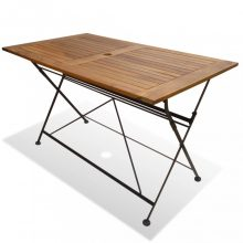 VID Akác összecsukható kerti asztal 120 x 70 x 74 cm
