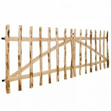 VID dupla mogyorófa deszka-kerítéskapu 300 x 100cm