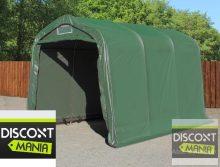 Ponyvagarázs/ sátorgarázs / tároló 2,4x3,6m -PVC 550g/nm zöld színben betonhoz való rögzítéssel