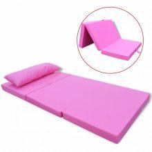 VID Összecsukható gyerek matrac rózsaszín színben [120 x 60 cm]