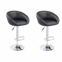 VID 2db emelhető lounge szék/bárszék - fekete színben